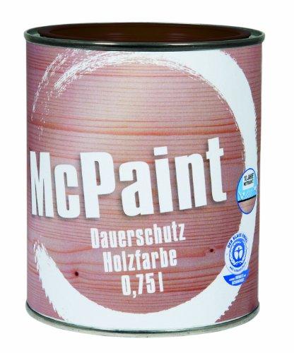 McPaint Wetterschutzfarbe – Holzfarbe für außen auf Acryl Basis mit langanhaltendem Wetterschutz, PU-verstärkt, Möbellack, seidenmatt, 0,750L, Schokobraun - Weitere Farbtöne verfügbar