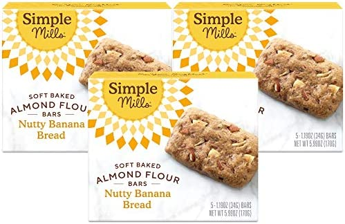 Simple Mills Almond Flour Snack Bars Nutty Banana Bread with Organic Coconut Oil Chia Seeds product image
