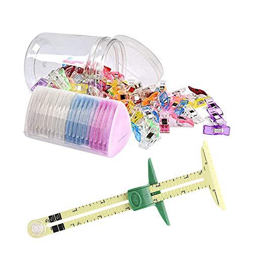 MOPOIN Juego de accesorios de costura, 100 pinzas de tela, a