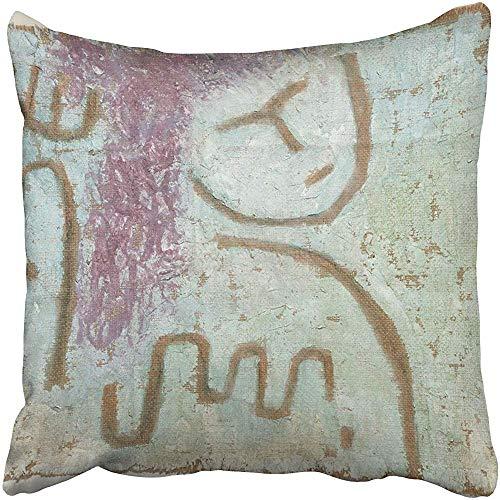 SSHELEY Kissenbezüge Cases Little Hope Von Paul Klee 1938 Schweizer Malerei Gips und auf Sackleinen in den späten 1930er Jahren Kissenbezüge Case Cover Cushion