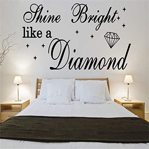 Wandaufkleber Schlafzimmer Shine Bright Like A Diamond Rihanna zitiert Liedtexte