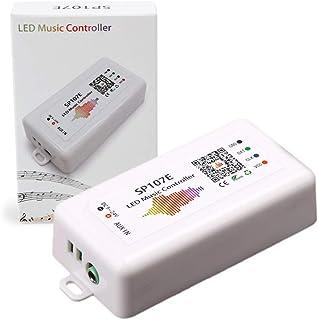 HKBAYI WIFI RGB SP107E pixel IC SPI Music bluetooth Controller by phone APP For WS2812 SK6812 SK9822 RGBW APA102 LPD8806 Strip DC5-24V