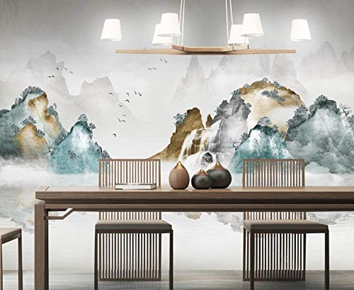 Papel Pintado 3D Hermoso Paisaje Asuka Waterfall Art Fotomurales Salón Dormitorio Decorativos Pared Murales,250cmx175cm