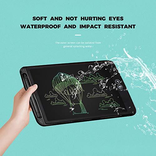 Preisvergleich Produktbild QHJ LCD Writing Tablet,  6.5 Zoll LCD-Schreibtafeln,  Grafiktabletts Schreibplatte Digital Schreibtafel Papierlos Schreiben Tabletten für Kinder Schule Graffiti Malen Notizen (A-Schwarz)