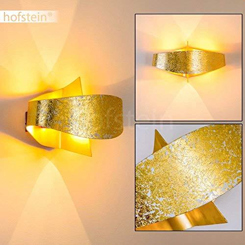 Lampada da parete di design, mod. Padova, colore oro
