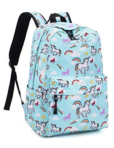 Leaper Unicorn Backpack for Girls Laptop Backpack School Bag Bookbag Blue