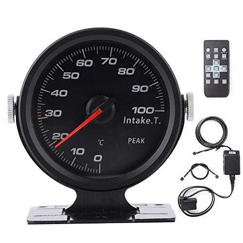吸気温度計、Qiilu吸気温度ゲージ、吸気温度ゲージ60mm着色17色OBD2レーシングカーアクセサリー