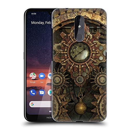Officiële Simone Gatterwe Roestige vintage tandwielen Steampunk Hard Back Case Compatibel voor Nokia 3.2