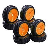 IPOTCH 8X Neumáticos Y Ruedas De Caucho 17 Mm Hexagonal para 1/8 Equipo Losi Redcat FS RC Buggy A