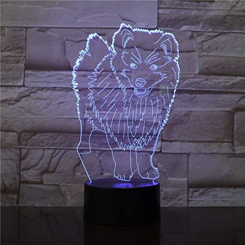 Nndxh Cane In Piedi 3D Luce Colorata Interruttore Tattile Tocco Led Luce Notturna Regalo Creativo Piccola Luce Usb Led Bambino Luce, Regalo Romanzo