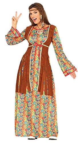 Guirca- Disfraz adulta hippie, Talla 42-44 (88290.0)