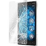 PhoneNatic 1 x Glas-Folie klar kompatibel mit Nokia Lumia 830 - Panzerglas für Nokia Lumia 830