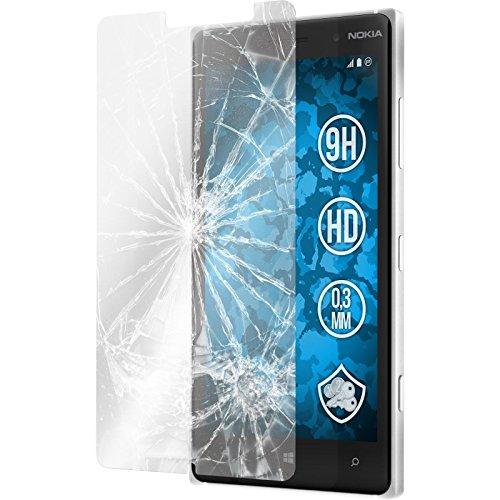 PhoneNatic 2 x Película Protectora de Vidrio Templado Claro Compatible con Nokia Lumia 830 Películas Protectoras