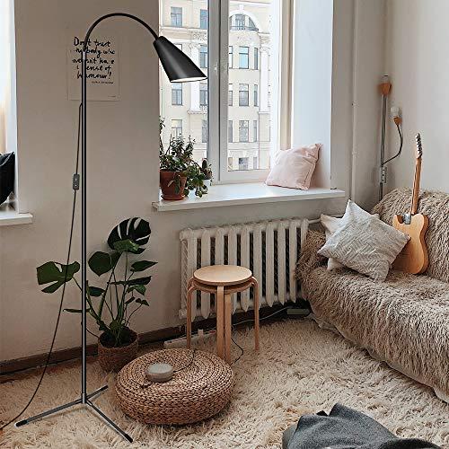 Lámpara de pie, lámpara de pie para sala de estar, recámara, lámpara de pie Ebest Torchiere, lámpara LED de lectura con regulador de intensidad, Moderno, Neg