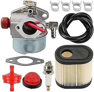 RETYLY 640350 Carburador Filtro de Aire BujíA Juego de LíNea de Combustible para Accesorios de CortacéSped Tecumseh LEV100 / 105 LEV120 Cortadoras de CéSped