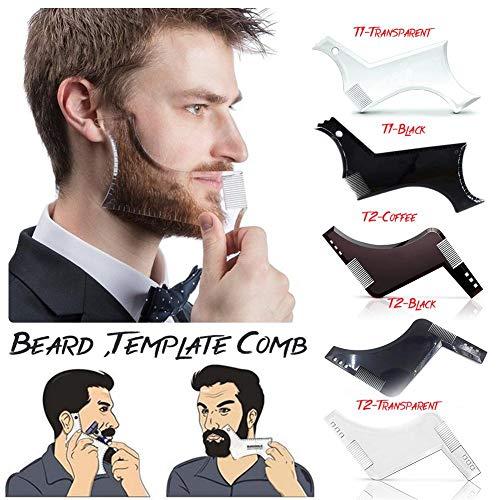 Bartschablone,Bartformer Rasierhilfe mit bart Stift,Männer Bart-Kämme Schönheits-Werkzeug formt