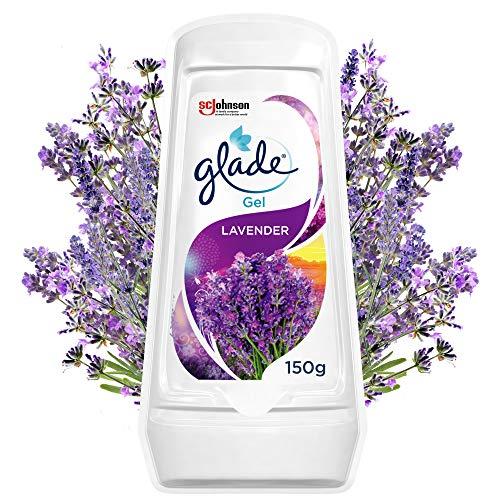 Glade (Brise) Gel Lufterfrischer, Für Frische in allen Räumen sowie Schränken, Bis zu 30 Tage, Lavender, 8er Pack (8 x 150 g)