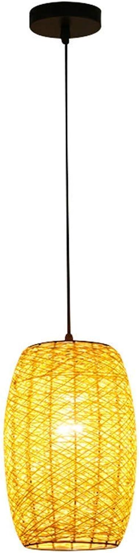 Pendelleuchte, Pastoral Rattan Kronleuchter Café Kreative dekorative Hngeleuchten Restaurant Bar Gras Weben Rebe-Lampe Personality Fisch Linie Bambus Hngelampe