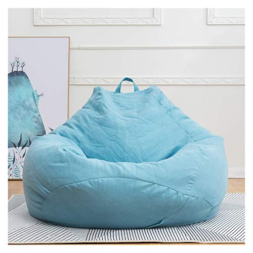 QEEN New Removable Sofa Filler Lazy Sofa Cover Chairs Bedroom Ottoman Lounger Seat Bean Bag Pouf Puff Couch Tatami Garden Deckchair (Color : Sky Blue, Specification : L 90x110cm)