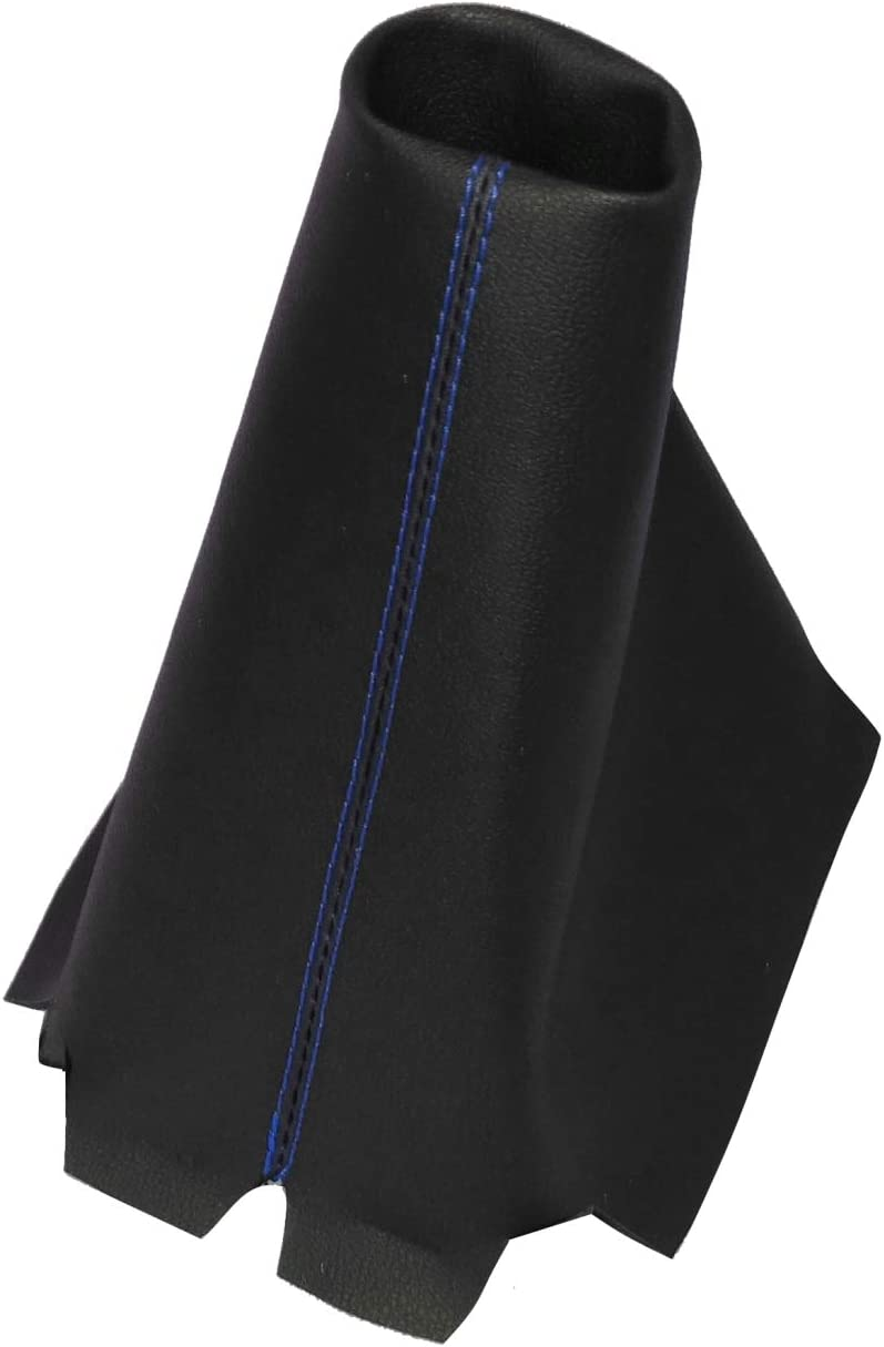 AERZETIX azul Funda para palanca de cambios de piel sint/ética con costuras de colores variables