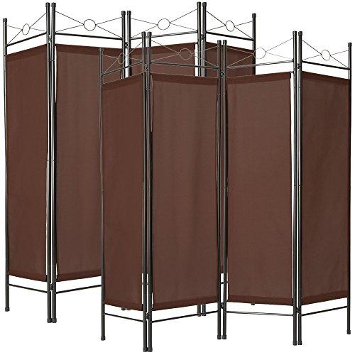 TecTake 2x Raumteiler Trennwand Paravent spanische Wand 4tlg   180x160cm - diverse Farben und Mengen - (2x Braun   Nr. 401831)