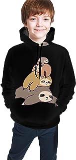 Sloth Stack Kids/Teen Boys Girls Hoodies,3D Print Pullover Sweatshirts