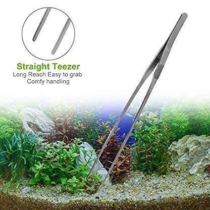 GENOVATION Aquatic Plant Tweezers Scissor Spatula Tool - 4 in 1 Stainless Steel Aquarium Tank Aquascaping Tools Set Fish Starter Kits & Aquariums Tank Plants Kit 2