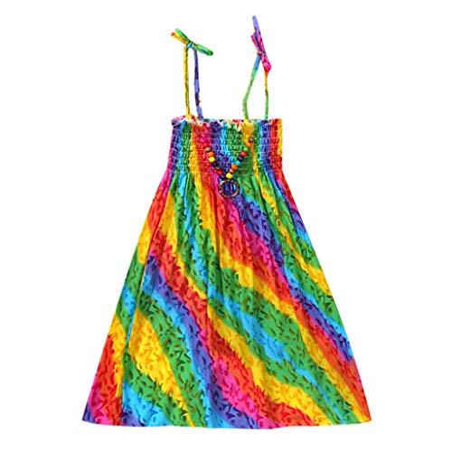 Moneycom - Vestido de Verano con Falda de Tul Chic, Ceremonia, para niña, niña, niña, niña, Vestido Floral, Vestido de Tirantes de Playa