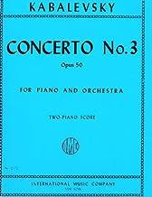 Concerto No. 3 Opus 50 for Piano and Orchestra (Two-Piano Score)