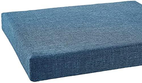 HZYDD Outdoor Sunbrella Bench Kissen, Massivfarbe Baumwolle Leinen-Settel-Kissen, Nicht-Rutsch-Terrasse-Möbel-Pad für Innen-Balkonhocker blau 100x35x5cm (39.4x13.8x2inch)