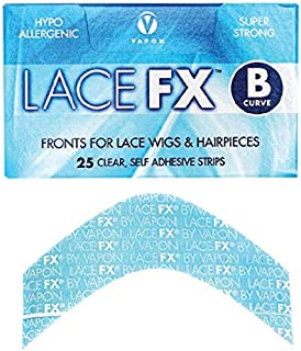 Lace Fx Tape By Vapon B Curve Double Sided Super Adhesive Clear Strips for Front Lace Wigs by Vapon, INC BEAUTY