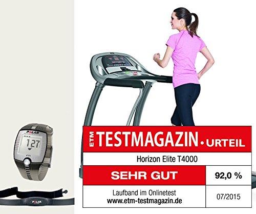 Elite T4000 Horizon Fitness Laufband - Aktuelles Modell. Aussteller