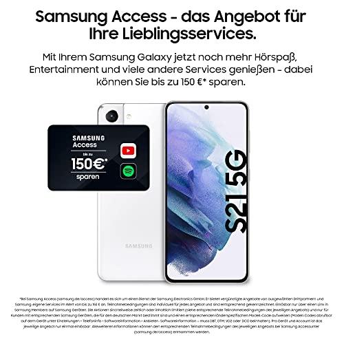 Samsung Galaxy S21 5G, Android Smartphone ohne Vertrag, Triple-Kamera, Infinity-O Display, 128 GB Speicher, leistungsstarker Akku, Phantom White