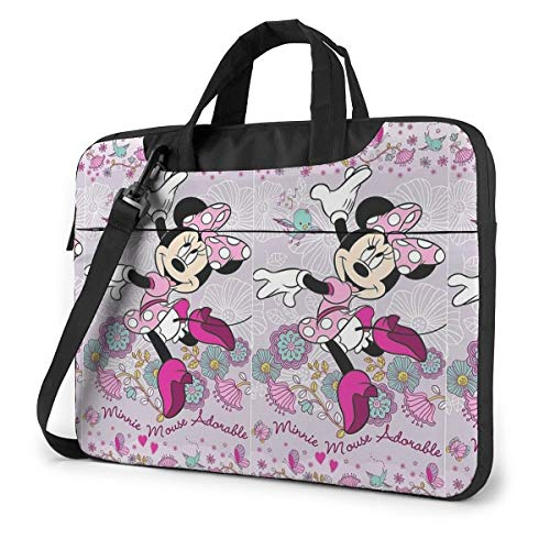 14 Inch Laptop Bag Dancing Minnie Mouse Laptop Briefcase Shoulder Messenger Bag Case Sleeve