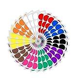 5cm Runde Punktaufkleber Farbkodierung Etiketten Markierungspunkte - 10 Farben, 240 Stück