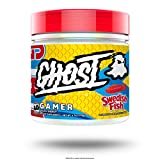 GHOST Gamer: Swedish Fish (40 Serv) Energy and Focus Support Formula - Brain-Boosting Nootropics and Natural Caffeine