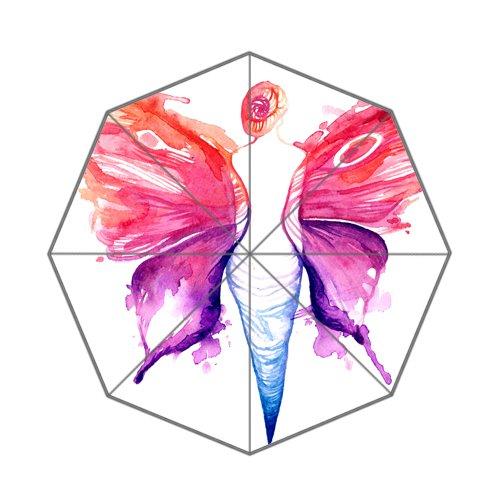 Flipped Zomer Y Schilderij Vrouw met Vlinder Vleugels Aangepaste Art Prints Paraplu