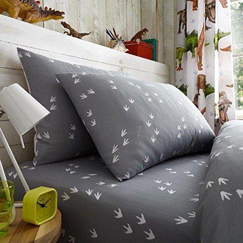 Rawrsome Dinosaure Drap-housse pour lit simple et taie d'oreiller
