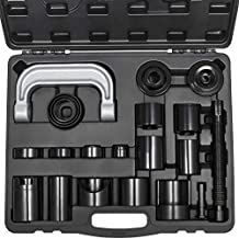 Master Ball Joint Press U-Joint Puller Removal Service Adapter Set Universal for 2WD/ 4WD Vehicles Heavy Duty Auto Install Remove Tool Kit 21PCS