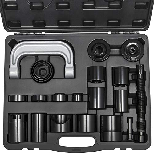 Yoursme Master Ball Joint Press U-Joint Puller Removal Service Adapter Set Universal for 2WD/ 4WD Vehicles Heavy Duty Auto Install Remove Tool Kit 21PCS