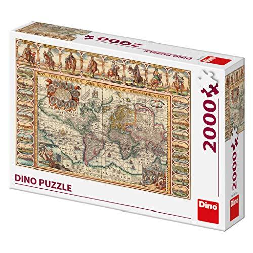 Dino Toys (DINR7) Puzzle histórico Mapa del Mundo 2000 Piezas, Multicolor Toys sro Dino_561151