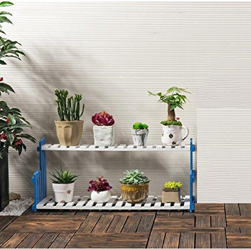 QFF Solide fleur en bois rack salon balcon étage multi-étages pots de fleurs intérieur simple étagère de la viande ( taille : 50*21*22cm )
