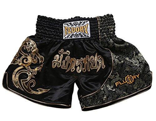 FLUORY Muay Thai Fight Shorts, MMA Shorts Bekleidung Training Käfig Kampf Grappling Martial Arts Kickboxing Shorts Kleidung