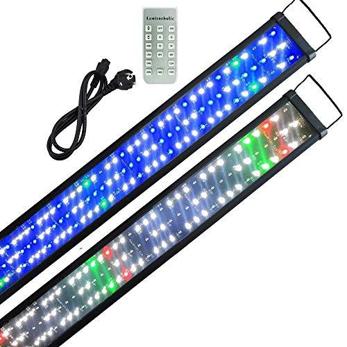 Boomersun Aquarium Beleuchtung LED Lampe mit Zeitsteuerung,9 Modi Dimmbar Mondlicht Aquarium Lampe Aufsetzleuchte SMD5730 LED Wasserpflanzen Aquarium Leuchte 150-180cm
