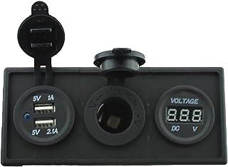 Nrpfell Batterie Au Plomb-Acide Et Batterie Au Lithium LCD 12//24//36 //48V /étanche Testeur De Capacit/é Moniteur De Voltm/ètre R/étro-/éclairage Vert pour Batterie De V/éhicule
