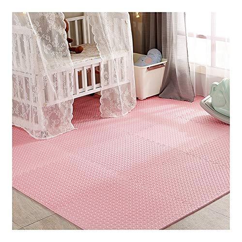 AWSAD Dalles en Mousse Installation Facile Lavable Maison D'intérieur Tapis De Jeu for Bébé, Plusieurs Couleurs, Taille 2 (Color : Pink, Size : 60x60x1.2cm 4 Pieces)