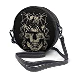 Bolso redondo mujer Round Crossbody Bag CRANEO Illuminati Handbag Purse Single Shoulder Bag Sling Bag