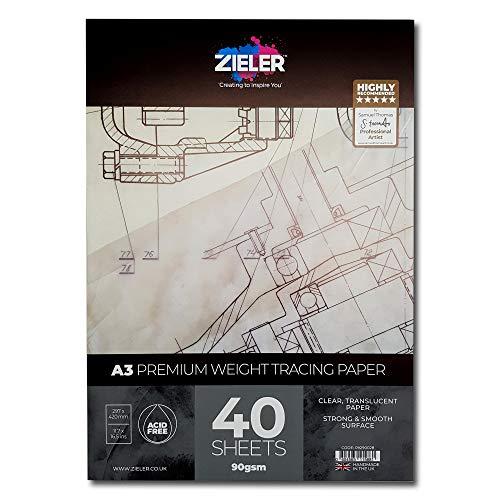 Transparentpapier, 90 g/m², 40 Blatt A3