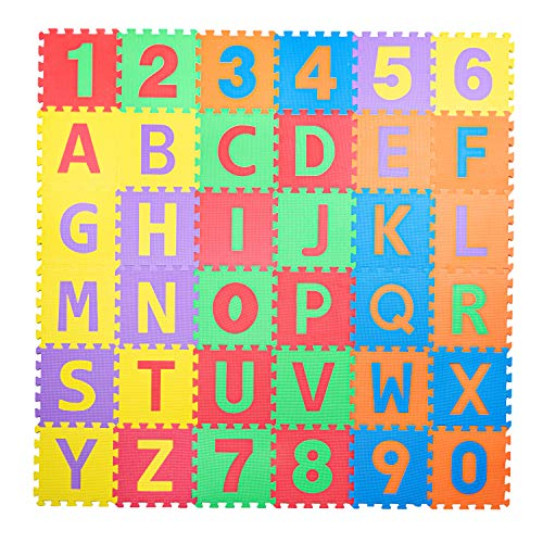 Non-Toxic ABC Foam Mat, 36 Tiles (12'x12')