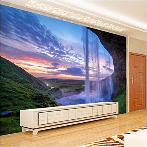Wuyii Gepersonaliseerde waterpas muur gordijn waterval productie raam landschap TV achtergrond behang 120 x 100 cm.